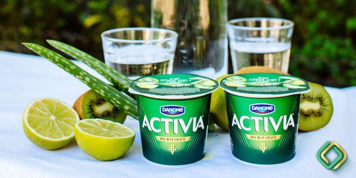 activia kiwi citron vert aloe vera