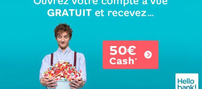 Ouvrez un compte Hello bank! et recevez 50€ en cadeau