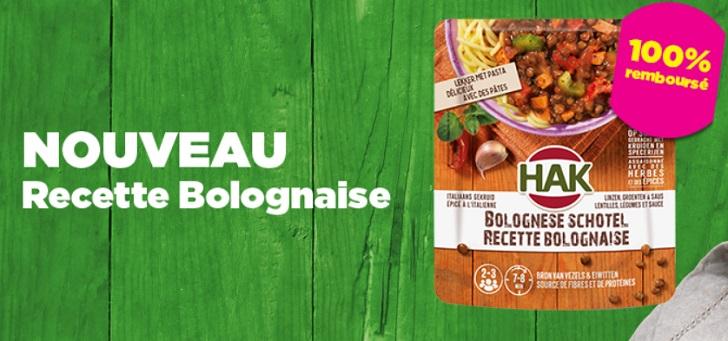 HAK recette bolognaise