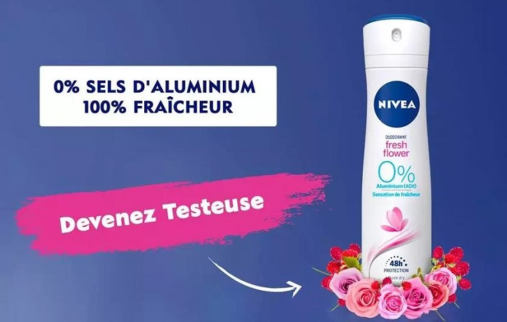 Nivea deodorant fresh flower