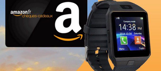 Un bon d'achat Amazon ou une smartwatch pour 2€
