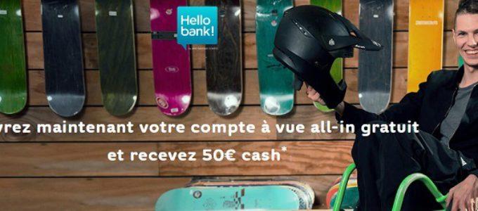 Ouvrez un compte à vue gratuit et recevez 50€ en cadeau