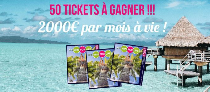 Concours : 50 billets Win For Life à gagner