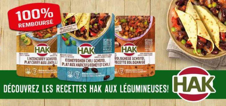 Plat HAK aux haricots 100% remboursé