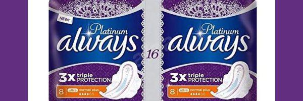 Serviettes hygiéniques Always Platinum 100% remboursées