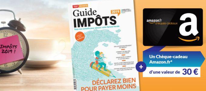 Guide impôts + chèque-cadeau Amazon pour seulement 2€