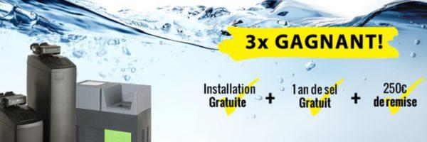 Adoucisseur d'eau : remise de 250€ et 1 an de sel gratuit