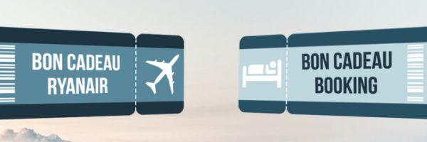 Concours voyage : bon cadeau Ryanair ou Booking à gagner