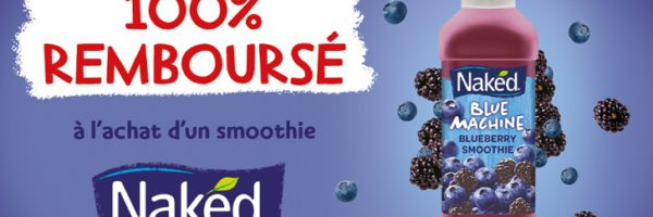 Smoothie Naked 100% remboursé