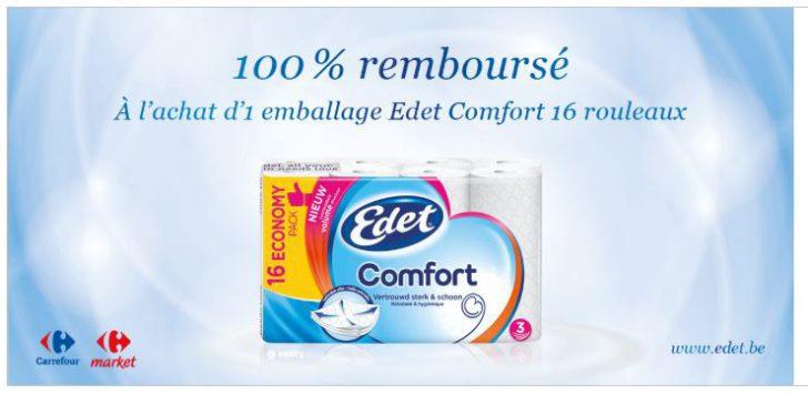 Paquet de 16 rouleaux Edet Comfort 100% remboursé