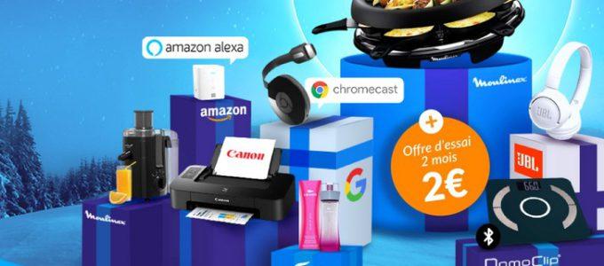 Choisissez parmi des dizaines de cadeaux à seulement 2€