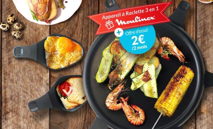 Recevez un appareil à raclette Moulinex pour seulement 2€