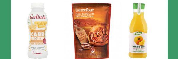 Produits Gerlinéa, Carrefour et Innocent 100% remboursés