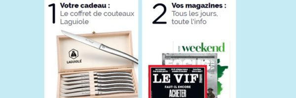 -15% sur l'abonnement Le Vif + coffret Laguiole offert