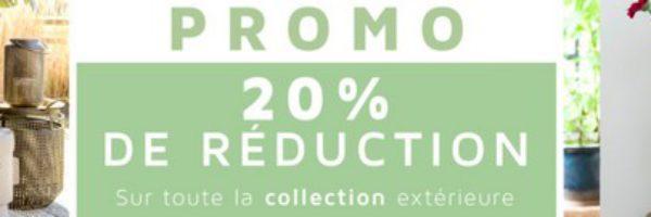 20% de réduction sur la collection extérieure Coco Maison