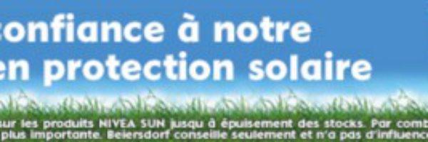 Nivea Sun : 20% de réduction à partir de 2 produits
