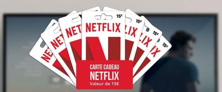1 carte-cadeau Netflix à remporter par jour