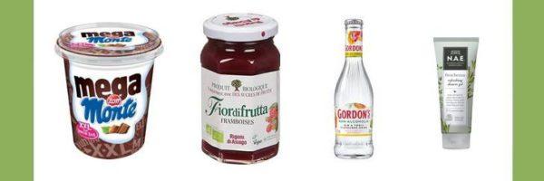 Yaourt, confiture, gin tonic et gel douche 100% remboursés
