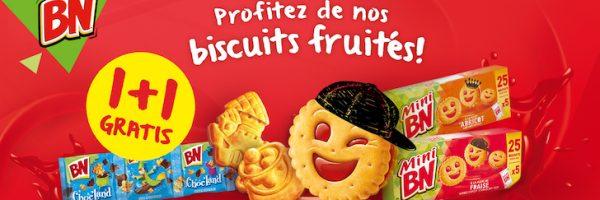 Biscuits BN : 1+1 gratuit
