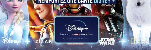 Remportez une carte Disney+
