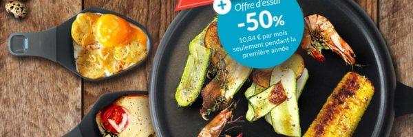 Appareil à raclette Moulinex en cadeau de bienvenue