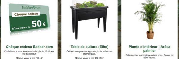 Concours plantes et 7,50€ de réduction Bakker