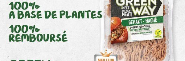 Viande hachée vegan Greenway 100% remboursée