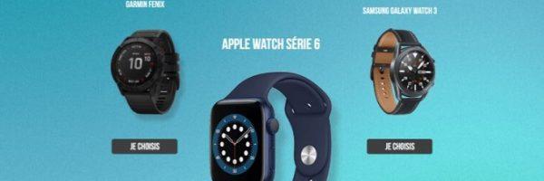 Remportez une smartwatch de votre choix