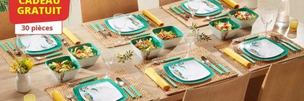 Ensemble de table 30 pièces Unigro en cadeau